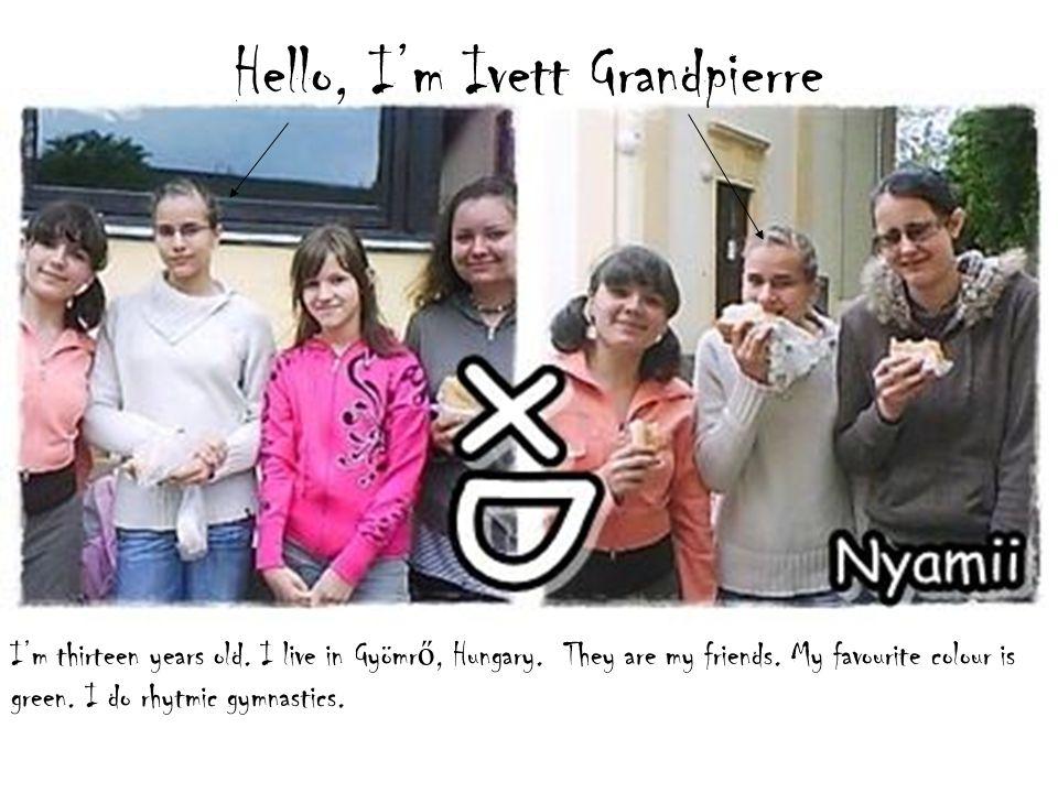 Hi. My name is Antonia Grandpierre. I'm twelve years old.