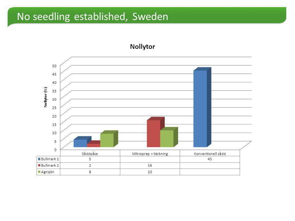 No seedling established, Sweden