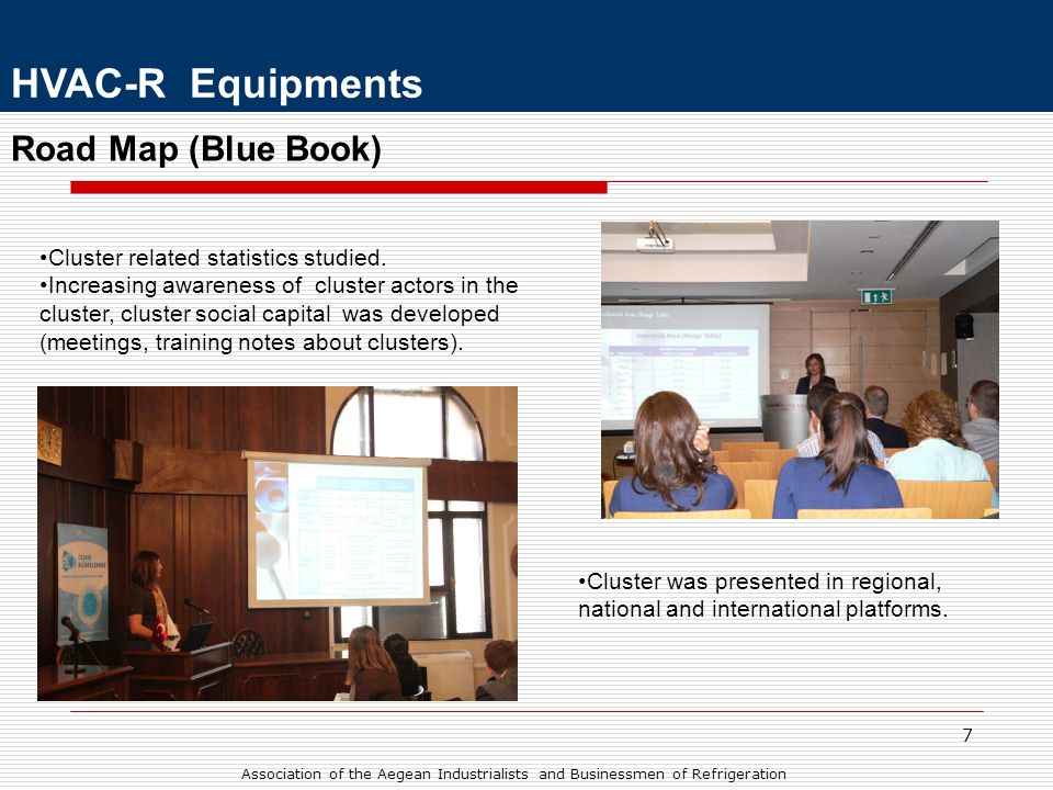 8 Road Map (Blue Book) HVAC-R Equipments •Similar industries' cluster managers in overseas were invited and information shared.