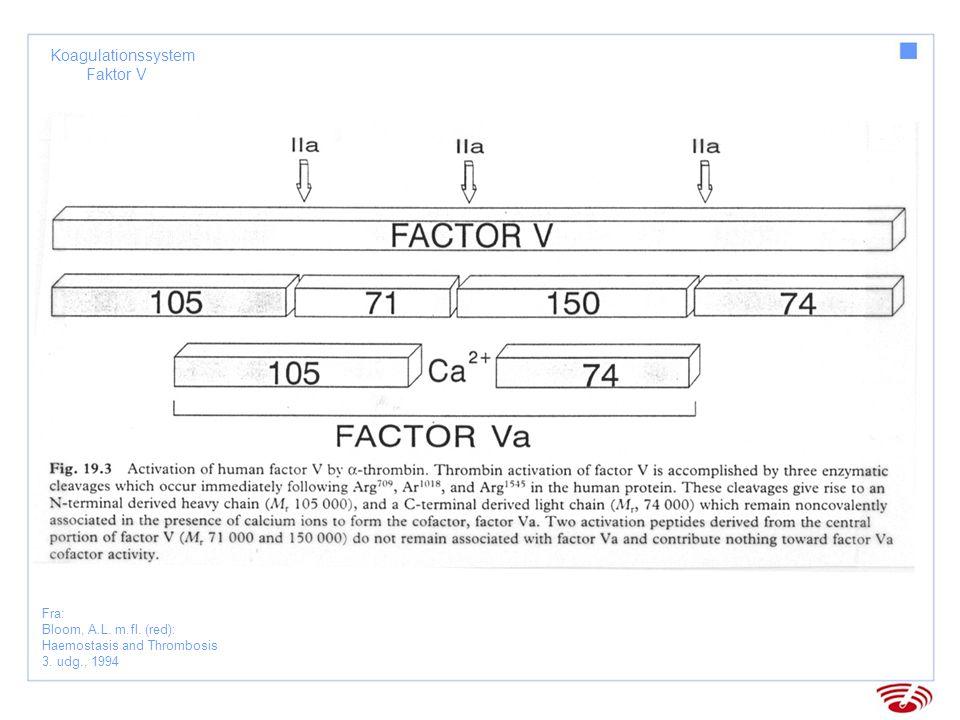 Koagulationssystem Faktor VIII Fra: Bloom, A.L.m.fl.
