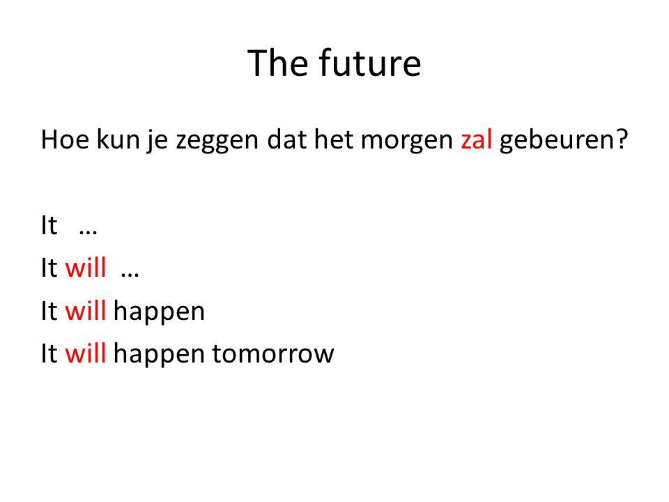 The future Hoe kun je zeggen dat het morgen zal gebeuren.