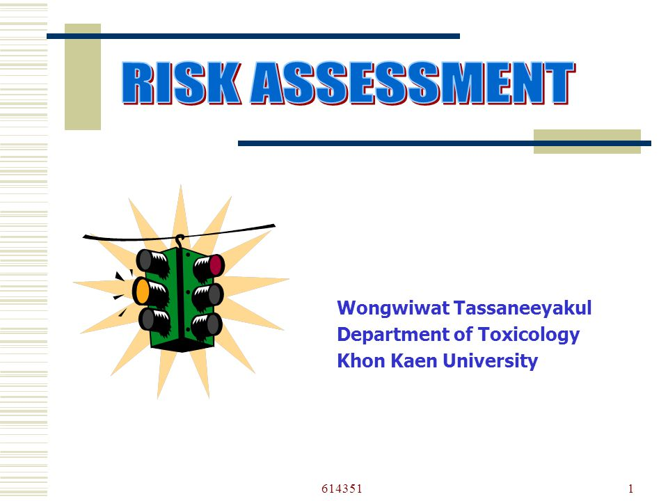 6143511 Wongwiwat Tassaneeyakul Department of Toxicology Khon Kaen University