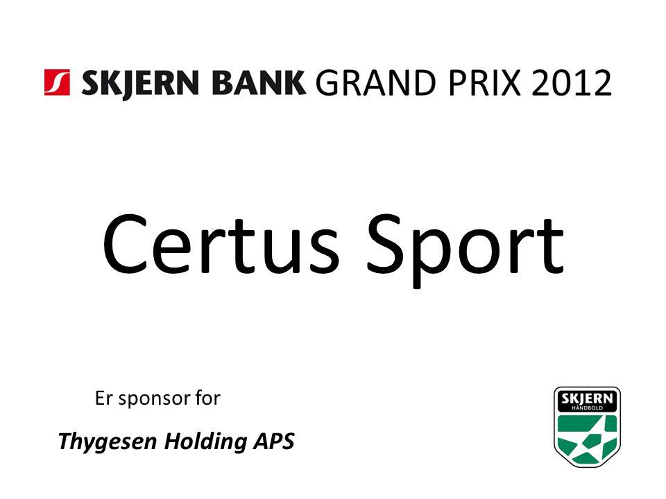 Certus Sport Er sponsor for Thygesen Holding APS