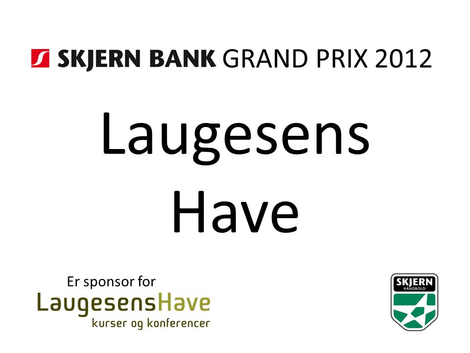 Laugesens Have Er sponsor for