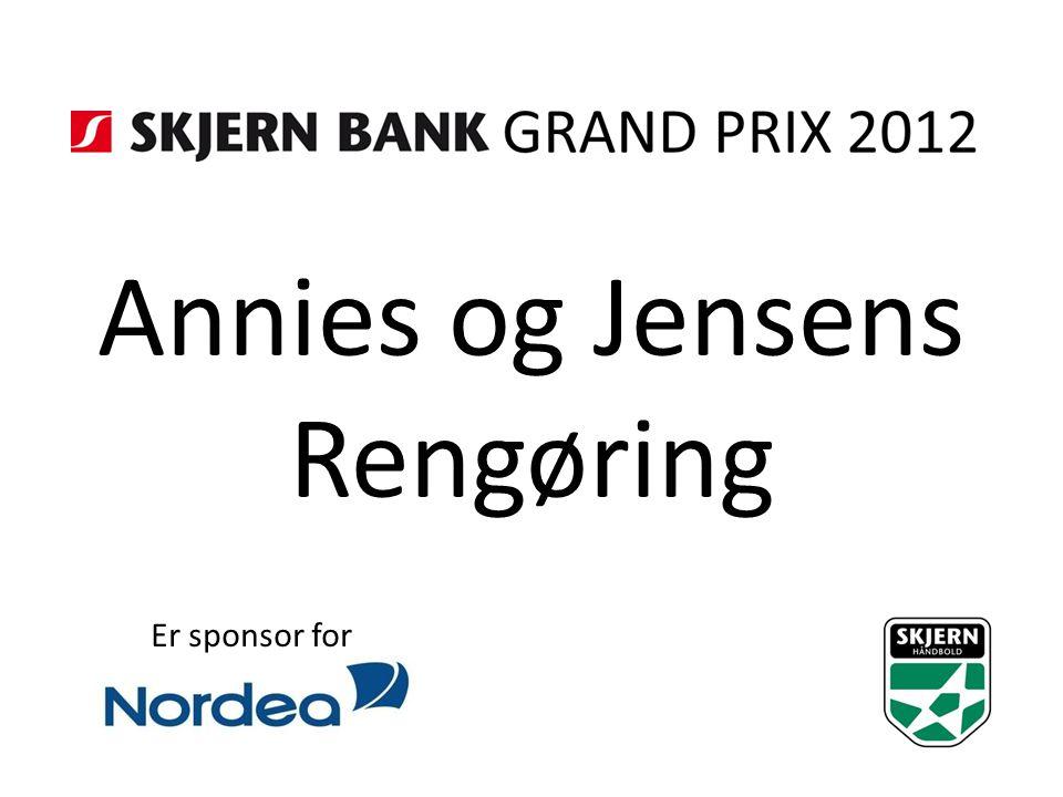 Annies og Jensens Rengøring Er sponsor for