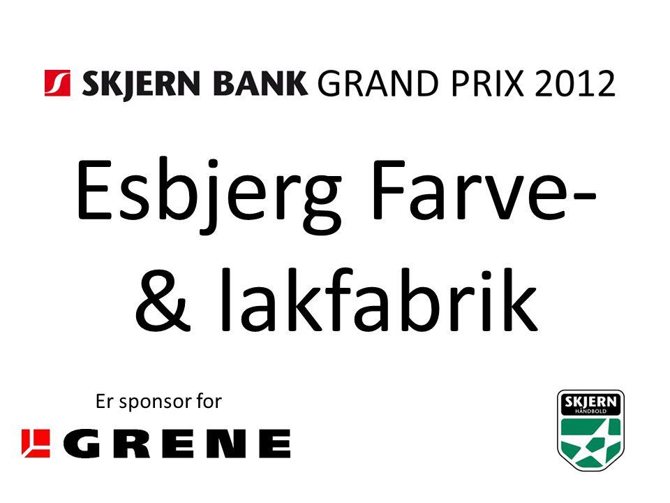 Esbjerg Farve- & lakfabrik Er sponsor for