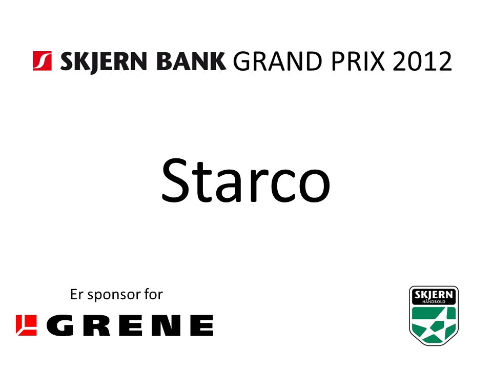 Starco Er sponsor for