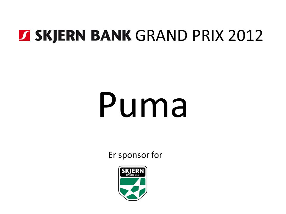 Puma Er sponsor for