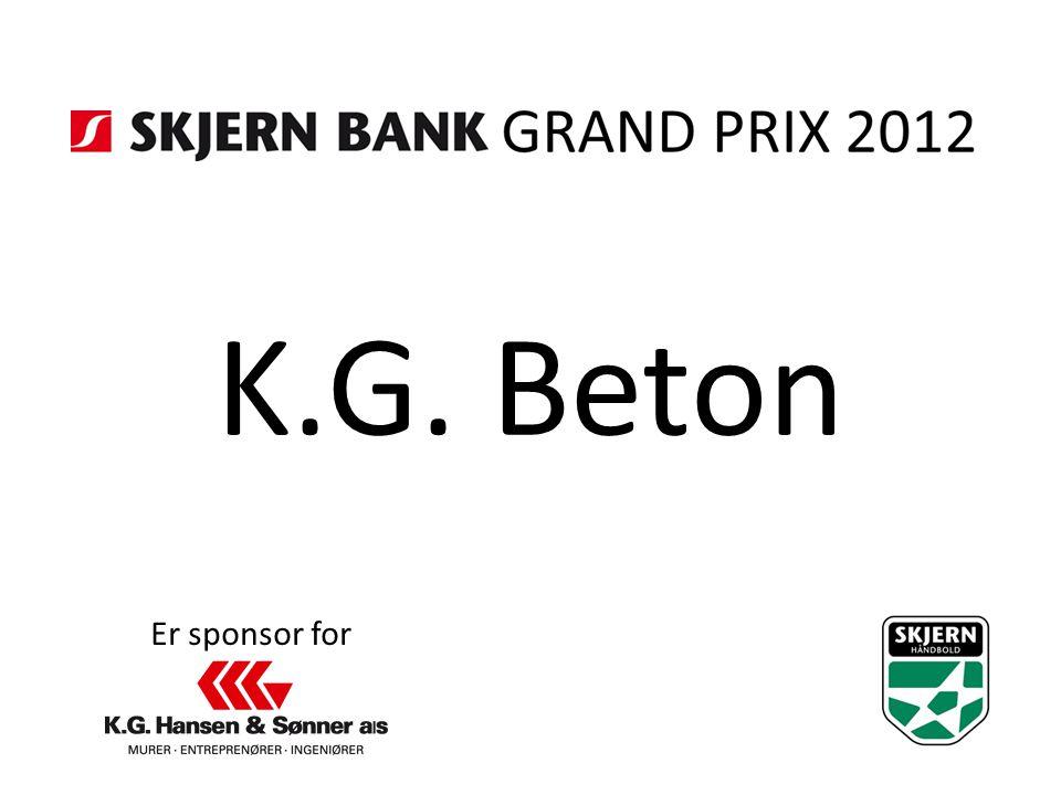 K.G. Beton Er sponsor for