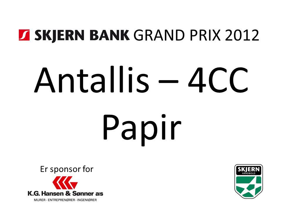 Antallis – 4CC Papir Er sponsor for