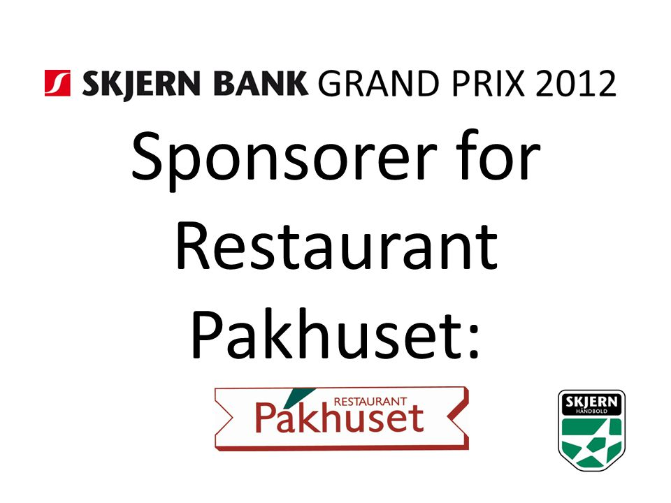 Sponsorer for Restaurant Pakhuset: