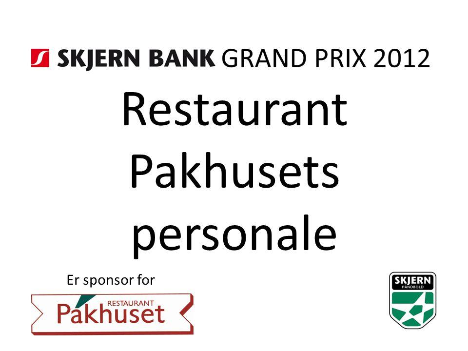 Restaurant Pakhusets personale Er sponsor for