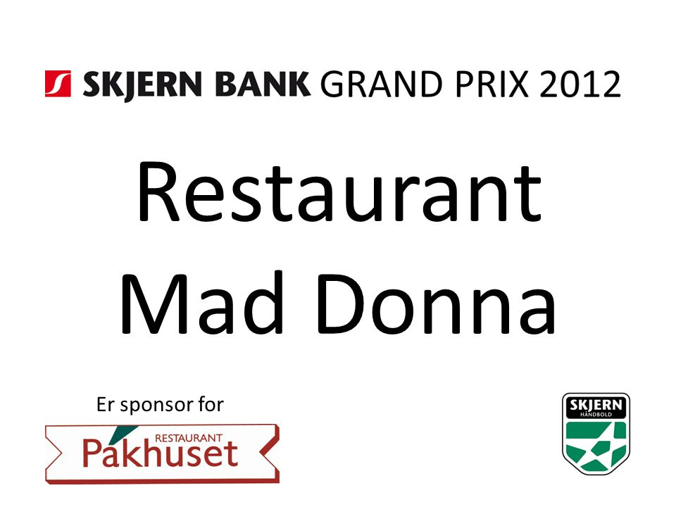 Restaurant Mad Donna Er sponsor for