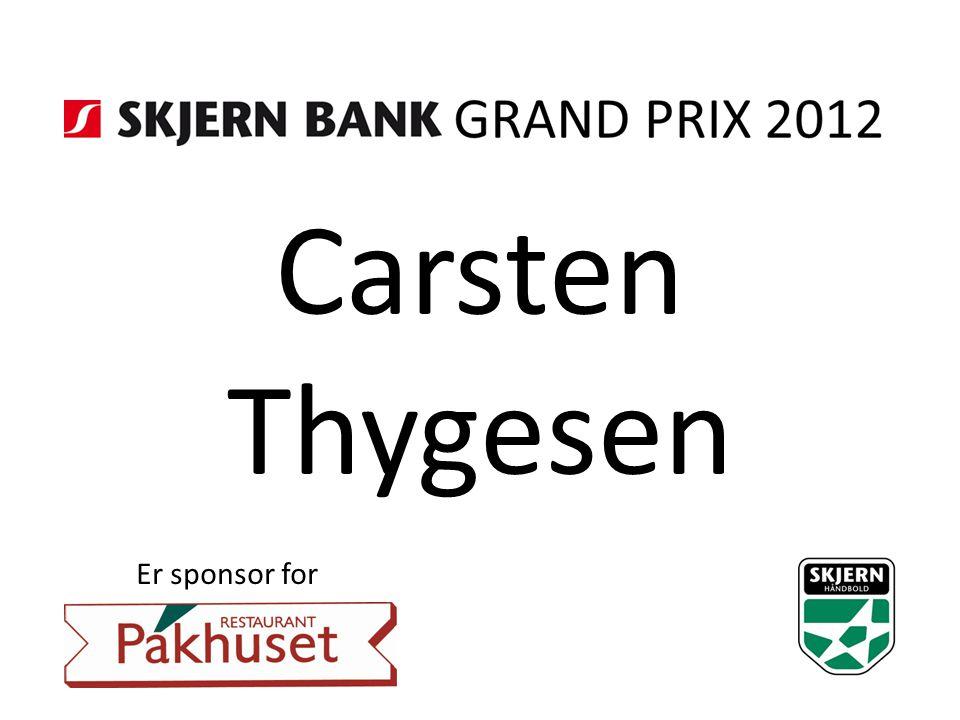 Carsten Thygesen Er sponsor for