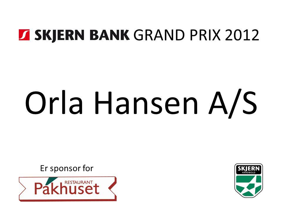 Orla Hansen A/S Er sponsor for
