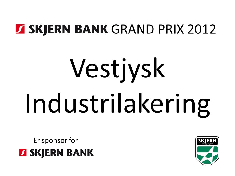 Vestjysk Industrilakering Er sponsor for