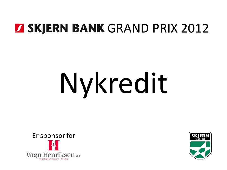 Nykredit Er sponsor for