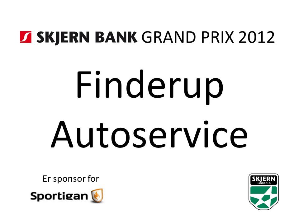 Finderup Autoservice Er sponsor for