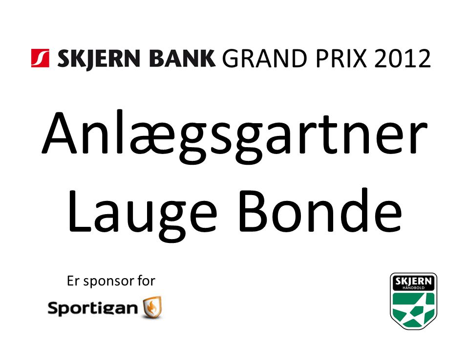 Anlægsgartner Lauge Bonde Er sponsor for