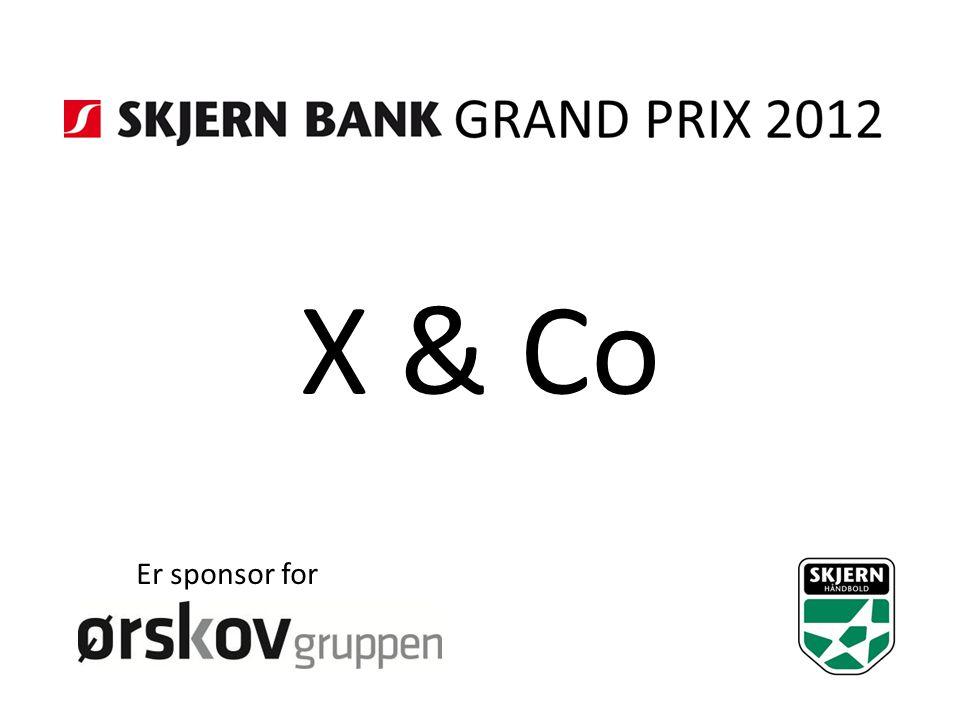 X & Co Er sponsor for