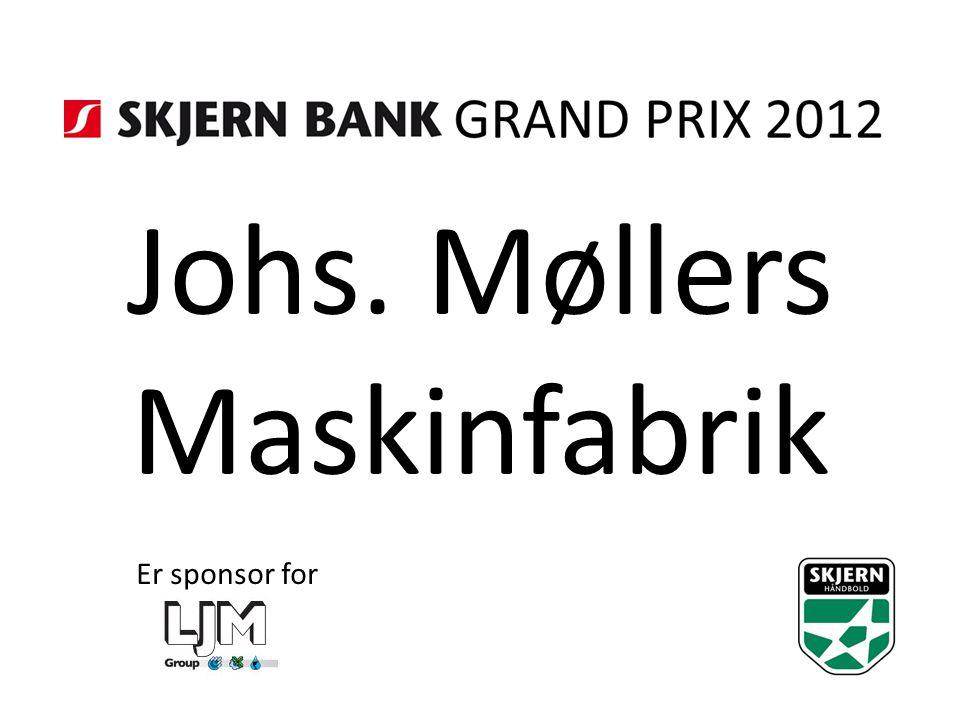Johs. Møllers Maskinfabrik Er sponsor for