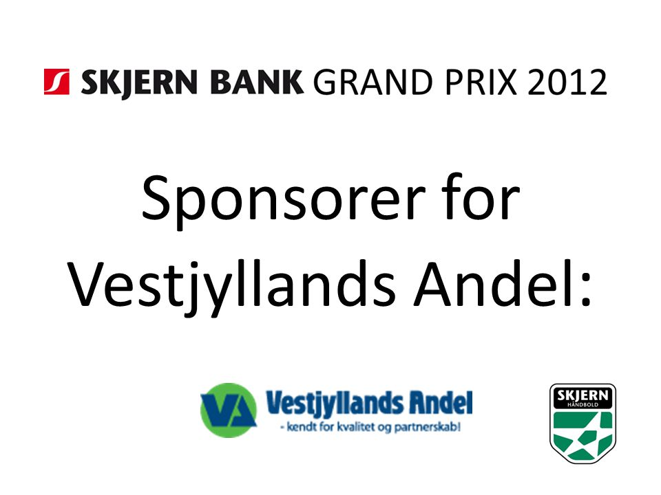 Sponsorer for Vestjyllands Andel :