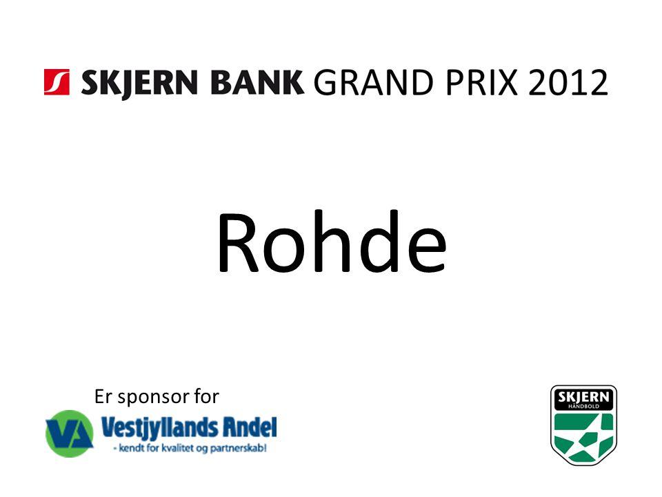 Rohde Er sponsor for