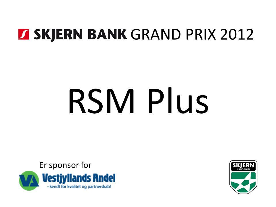 RSM Plus Er sponsor for