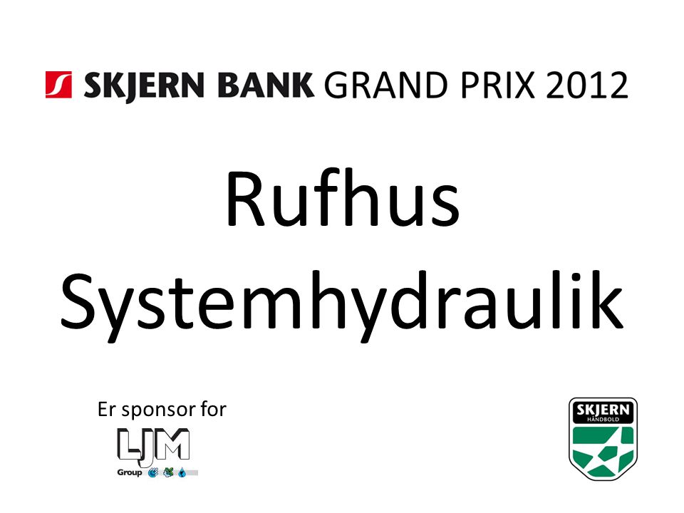 Rufhus Systemhydraulik Er sponsor for