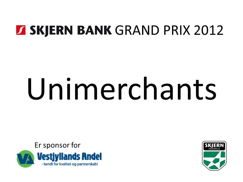 Unimerchants Er sponsor for