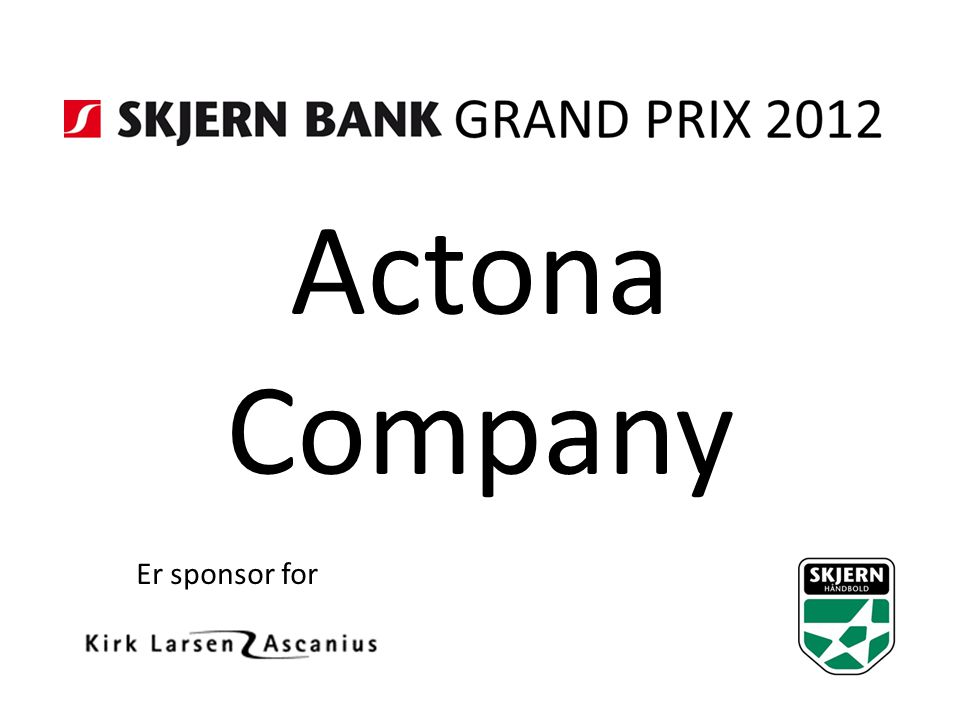Actona Company Er sponsor for