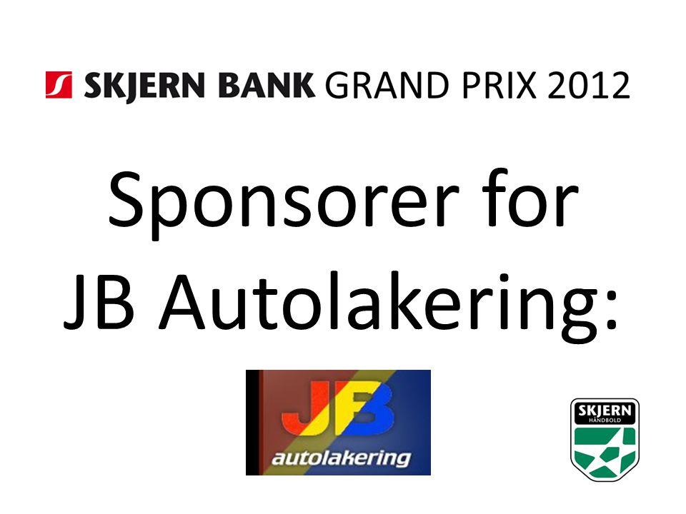 Sponsorer for JB Autolakering: