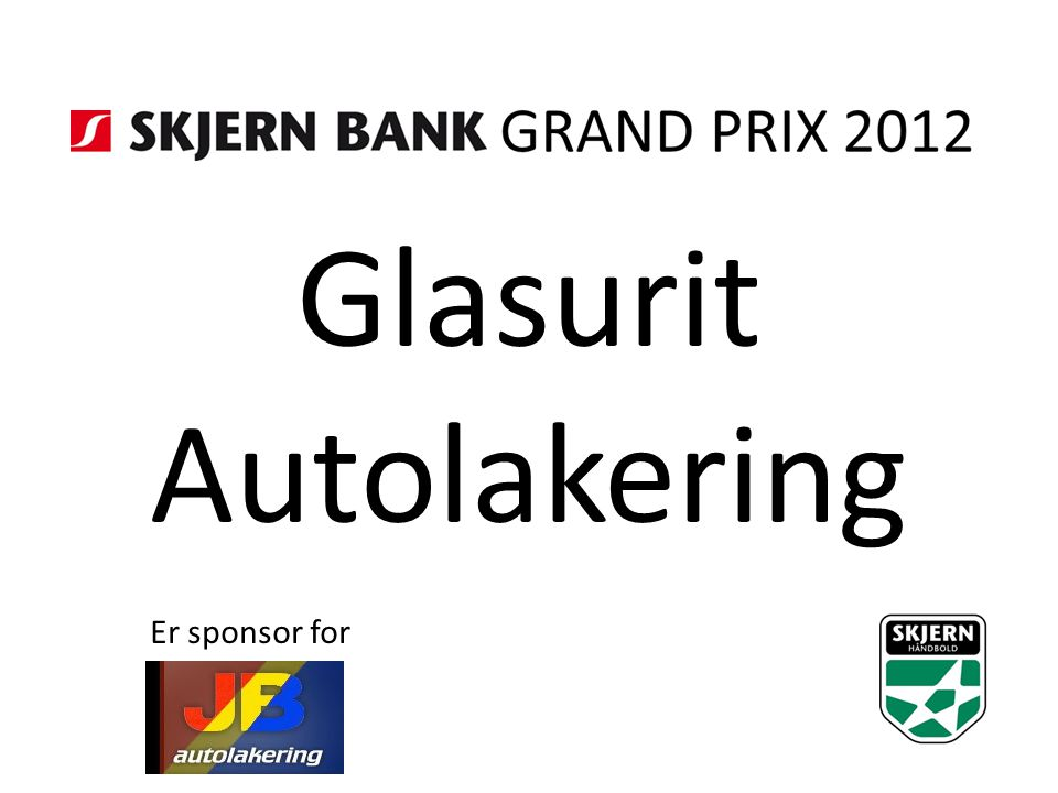 Glasurit Autolakering Er sponsor for