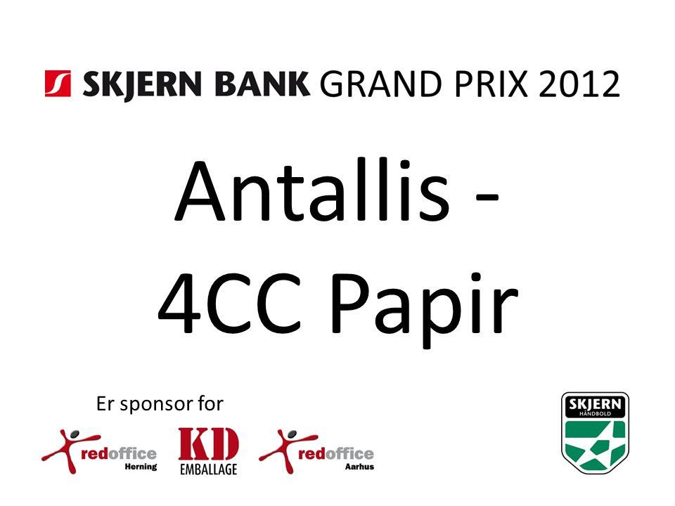Antallis - 4CC Papir Er sponsor for