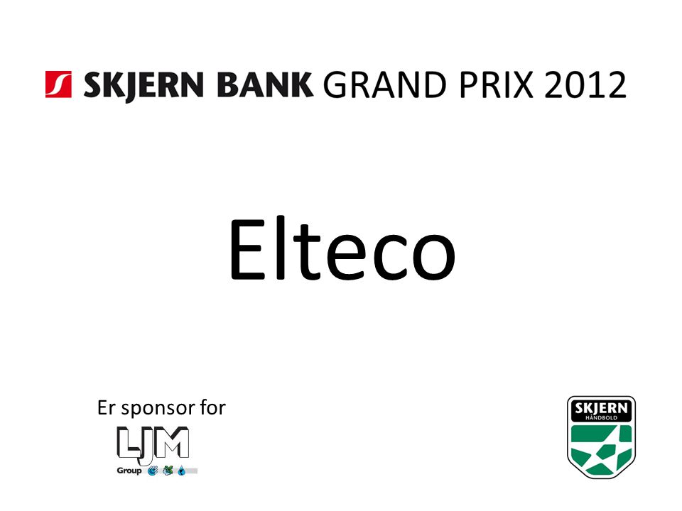 Elteco Er sponsor for