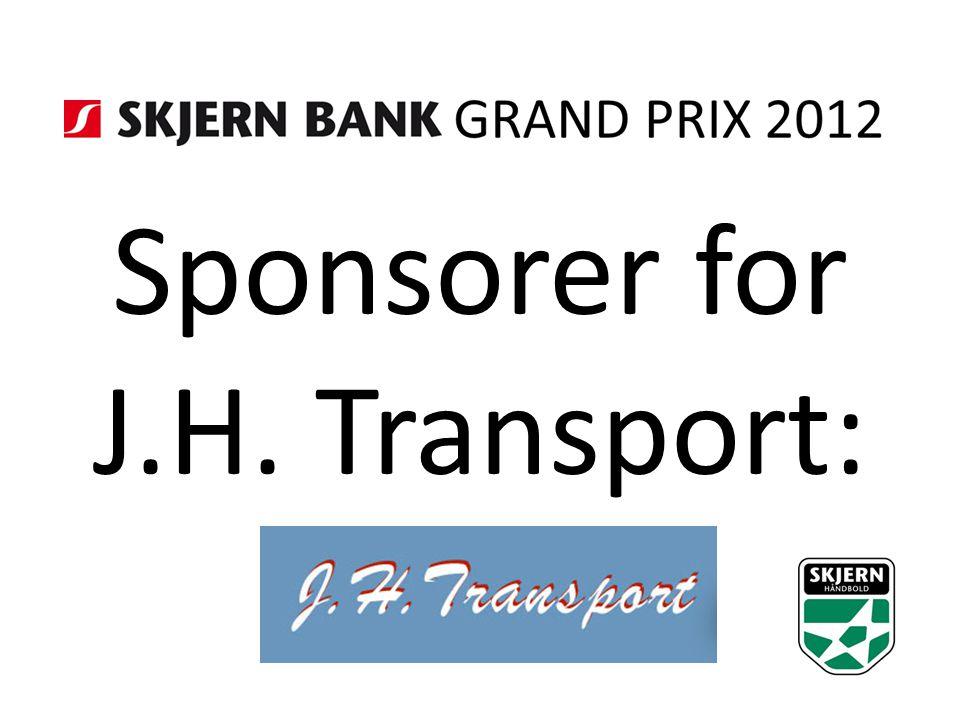 Sponsorer for J.H. Transport:
