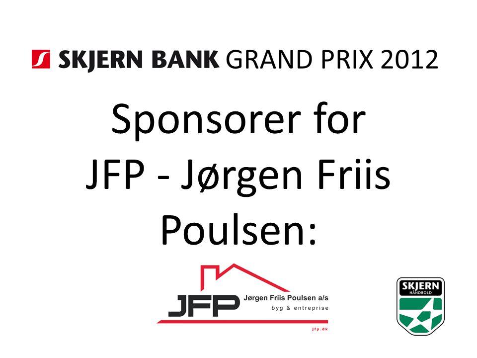 Sponsorer for JFP - Jørgen Friis Poulsen: