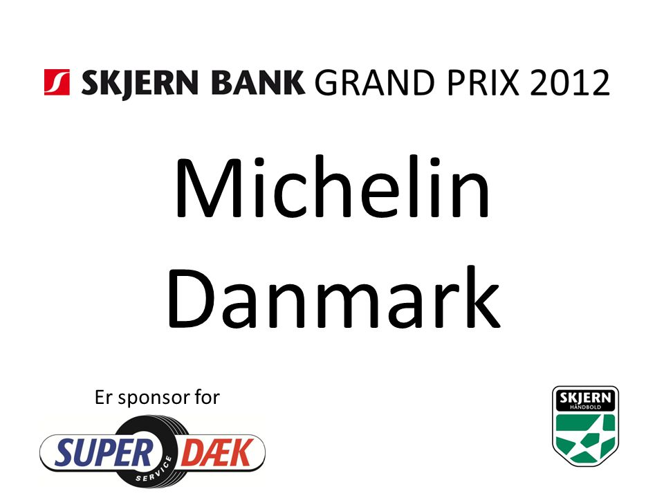 Michelin Danmark Er sponsor for