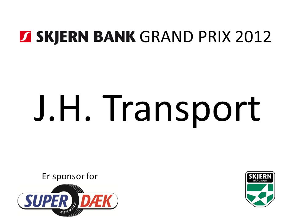 J.H. Transport Er sponsor for