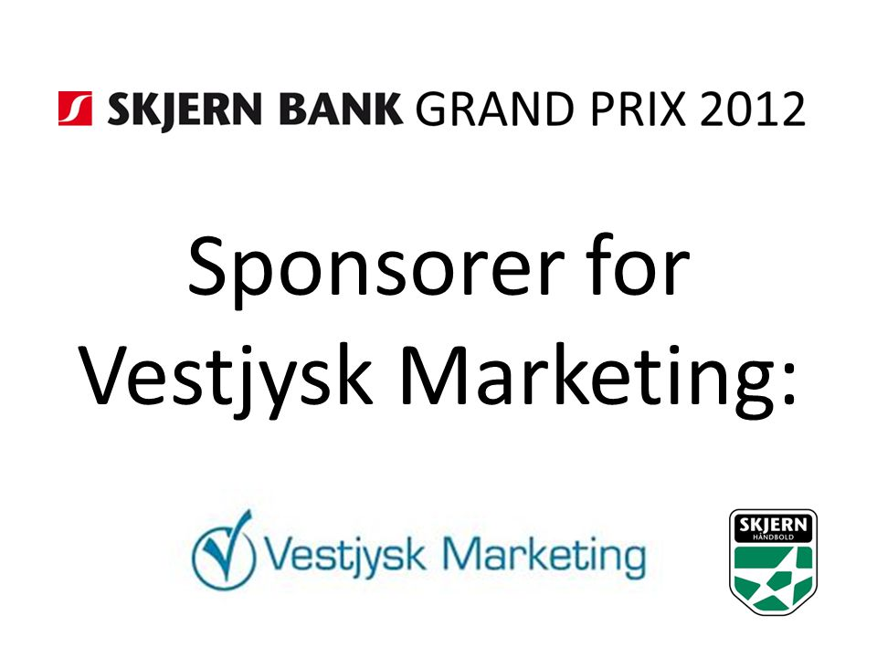 Sponsorer for Vestjysk Marketing: