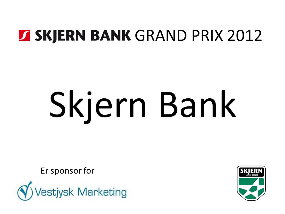 Skjern Bank Er sponsor for