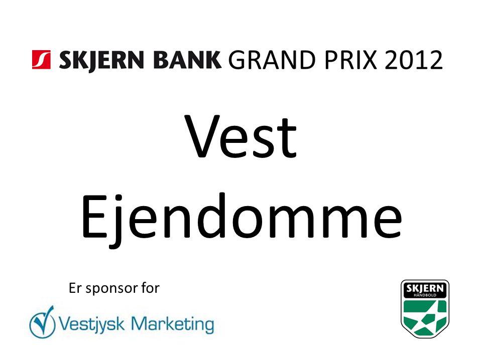 Vest Ejendomme Er sponsor for
