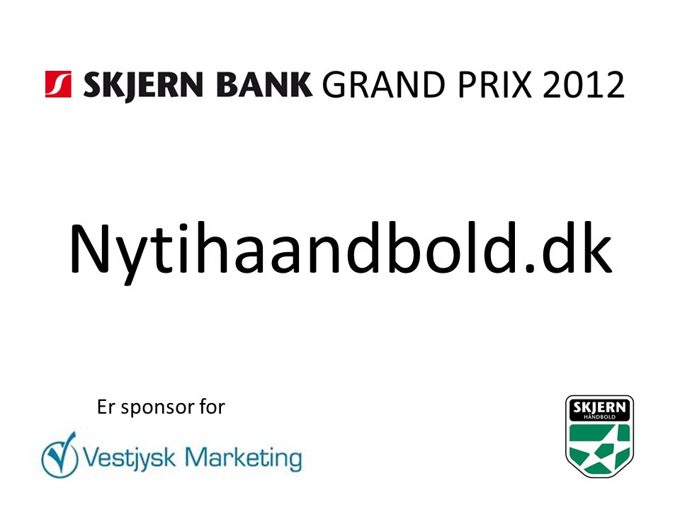 Nytihaandbold.dk Er sponsor for