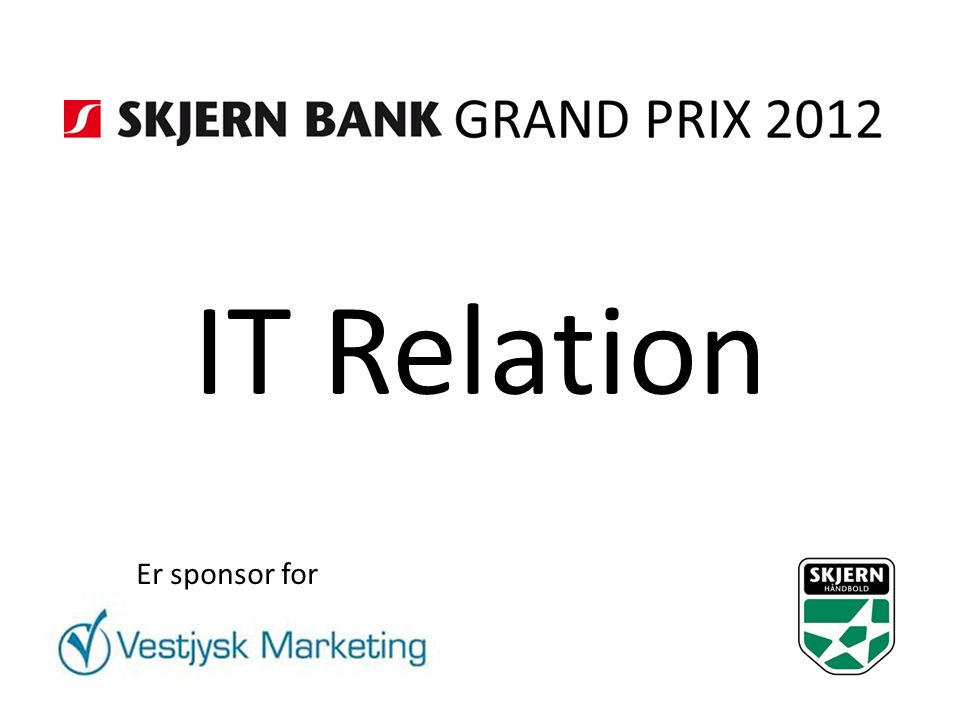 IT Relation Er sponsor for