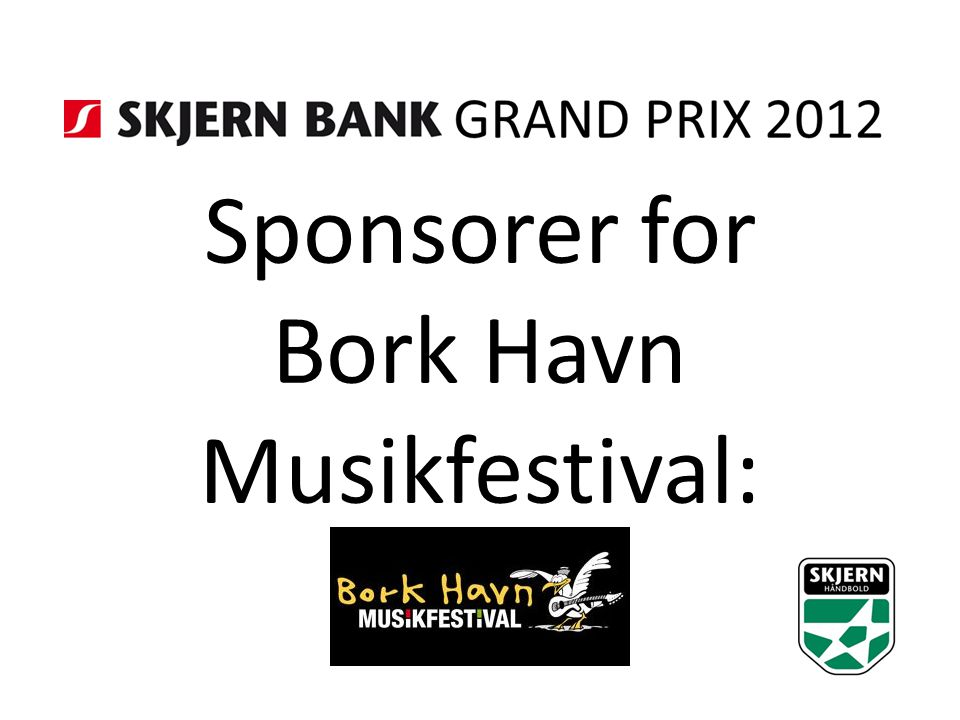 Sponsorer for Bork Havn Musikfestival: