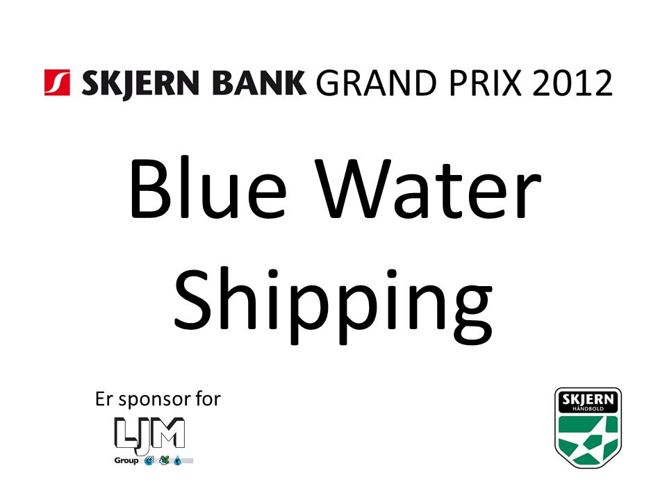 Blue Water Shipping Er sponsor for
