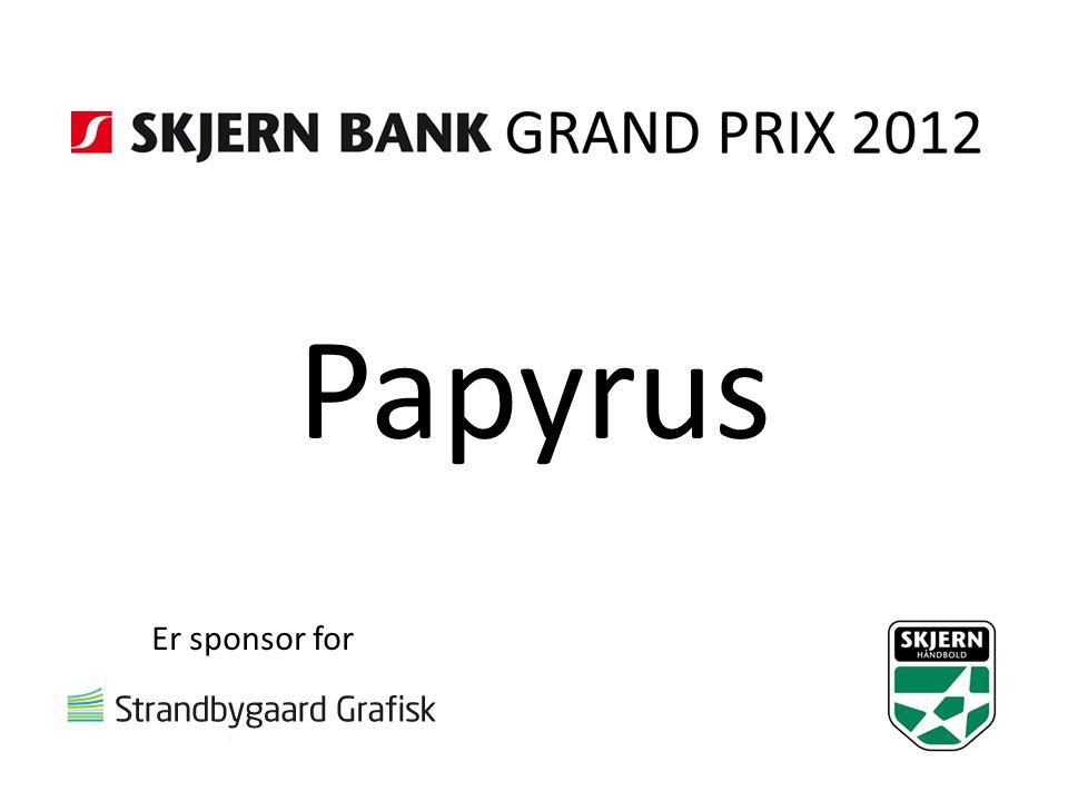 Papyrus Er sponsor for