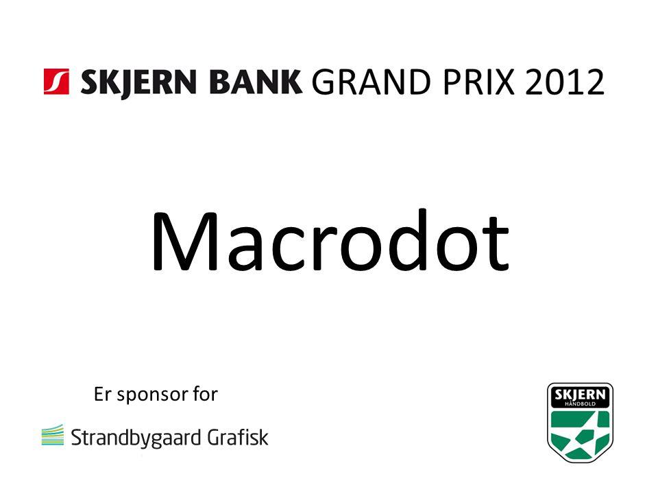 Macrodot Er sponsor for