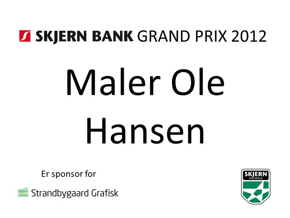 Maler Ole Hansen Er sponsor for