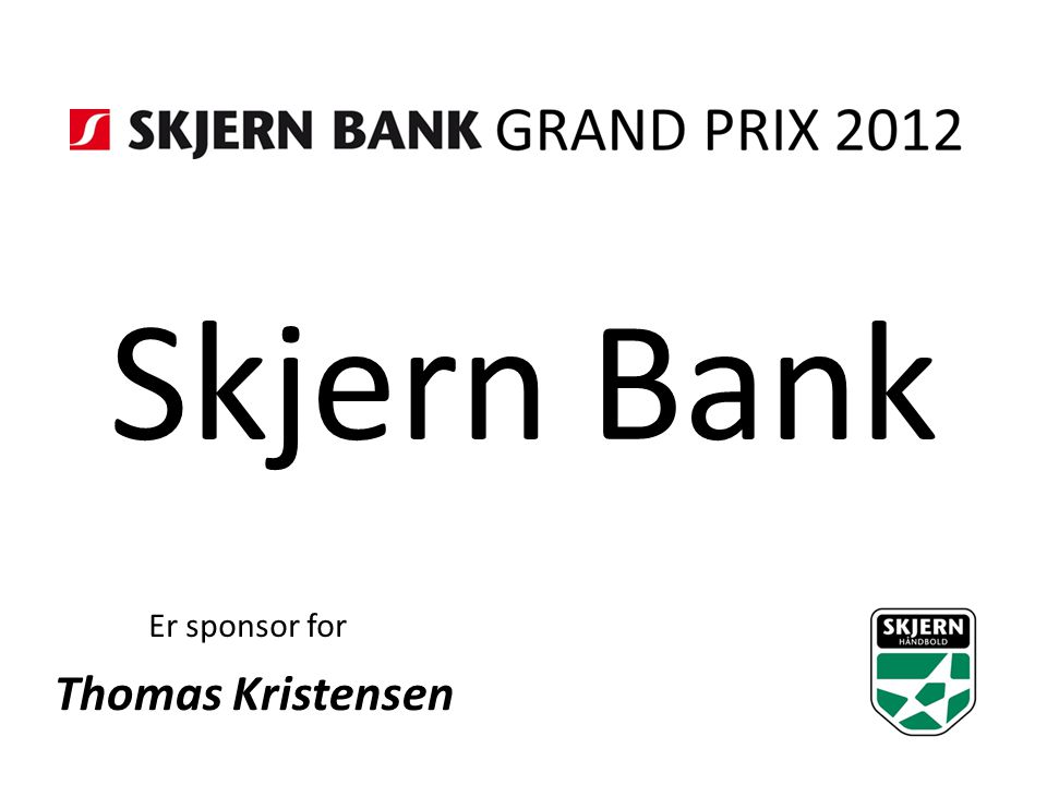 Skjern Bank Er sponsor for Thomas Kristensen